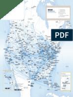 Mapa aéreo- EUA