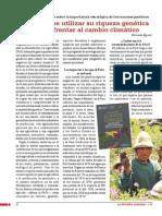 El Perú debe utilizar su riqueza genética  para enfrentar al cambio climático