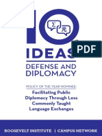 10 Ideas for Defense and Diplomacy, 2015