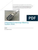 IRGA System That Washes the Screenings Within the Screen Basket to Remove Virtually All Faeces