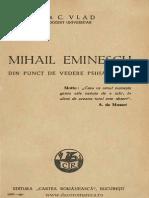Mihai Eminescu Din Punct de Vedere Psihanalitic