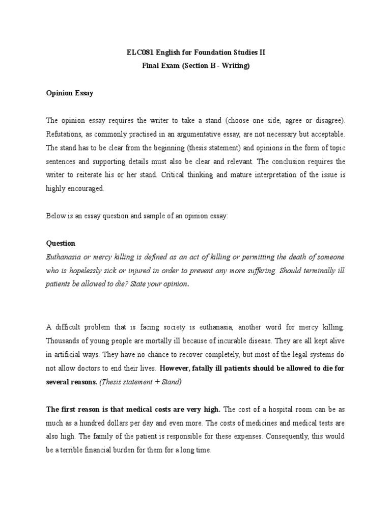 euthanasia debate pdf
