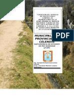 Perfil Muro de Encauzamiento Rio Chico