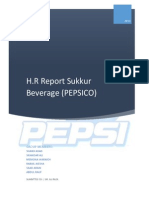 HR Report of Sukkur Beverages (PEPSICO)