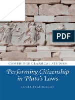(Cambridge Classical Studies) Lucia Prauscello-Performing Citizenship in Plato's Laws-Cambridge University Press (2014)