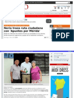 06-05-2015 Nerio Traza Ruta Ciudadana Apuntes Merida