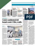 El Comercio - Portafolio - 02-04-15 - Centro ambiental del Senati costó US$6,6 mlls.