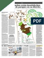 El Comercio -01-04-15 El 58% de Limeños Están Insatisfechos Con Cantidad de Parques en Su Distrito