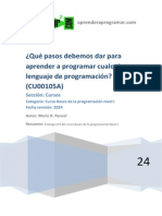 CU00105A Pasos a Dar Aprender a Programar Cualquier Lenguaje Programacion