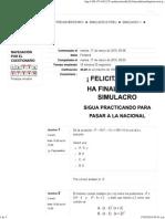 Simulacro 1 - Matemáticas