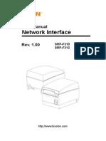 Network User Manual Bixolon SRPF310PSP