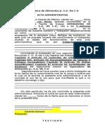 Acta Administrativa Operadora de Alimentos Jr
