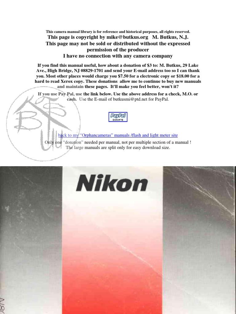 Nikon n80 repair ifixit.