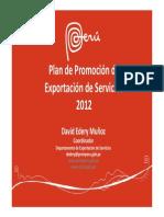 Plan Promocion Exportacion Servicios 2012