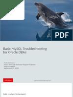 Basic MySQL Troubleshooting for Oracle DBAs