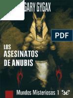 Los Asesinatos de Anubis - Gary Gygax