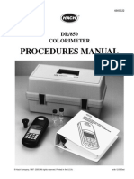 Dr 850 Colorimeter Procedures Manual
