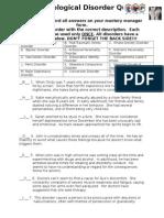psychological disorder quiz key sp15