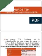 MUROS TEM (Tierra Mecánicamente Estabilizada)