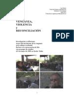 VENGANZA, VIOLENCIA y RECONCILIACIÓN