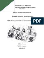 Fines y Funciones de las organizaciones sindicales, Derecho Laboral Colectivo