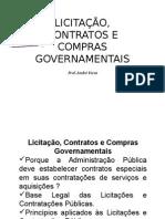 Licitações, Contrstos e Compras Governamentais - Aula