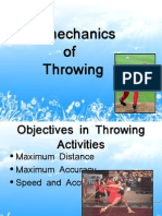 Bio Mechanics of Throwing