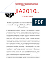 JIA2010 SESIÓN Nº3 (Territorio y poblamiento, Antigüedad)