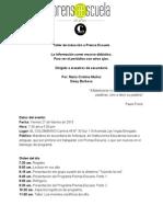Memorias taller de inducción a Prensa Escuela para maestros de secundaria - Febrero 27