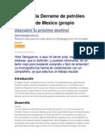Monografía Derrame de Petróleo Del Golfo de Mexico