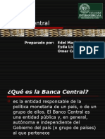 Charla - Banca Central