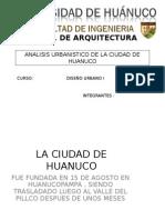 Análisis Urbanístico de la ciudad de Huánuco