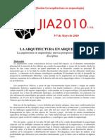 JIA2010 SESIÓN Nº6 (Arquitectura)