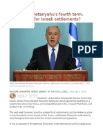 Insight - In Netanyahu's Fourth Term, What's Next for Israeli Settlements