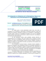 Investigacion Didactica Matematica