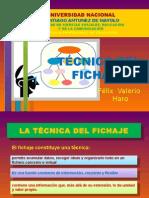 TÉCNICAS DE FICHAJE