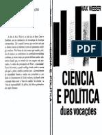 Max Weber, Ciência e Política Duas Vocações