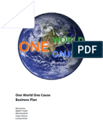 One World One Cause - Business Plan