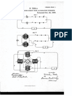Tesla Patent for Method of Obtaining DC From AC