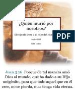 Muerte Del Hijo de Dios, by Pr. John García