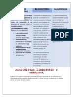 Accionistas Directorio y Gerencia