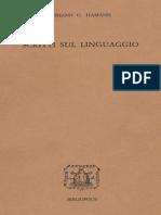 Johann G. Hamann-Scritti Sul Linguaggio (1760-1773)-Bibliopolis (1977) (1)