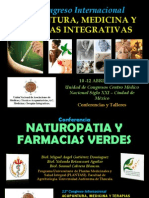 Conferencia Naturopatia y Farmacias Verdes Congreso Internacional Abril 2015