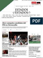 05-04-15 Abre campaña candidato del PRI en Hermosillo