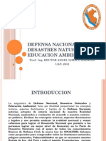 Defensa Nacional, Desastres Naturales y Educacion Ambiental