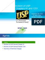 USP (41) & (1251) Revision_Overview, 2013