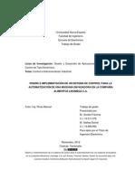 Diseño y desarrollo de aplicaciones y dispositivos de control electrico