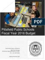 Pittsfield Schools FY16 Budget Book