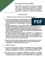 Contrato de Edicion de Obra Literaria