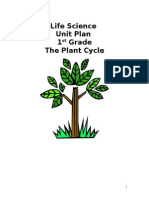 1st grade life science unit plan